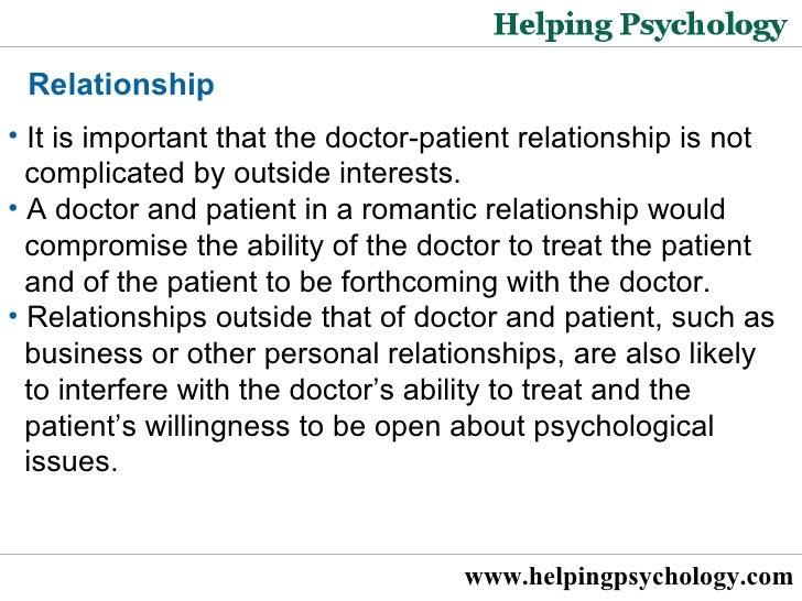 Doctor patient romantic relationship