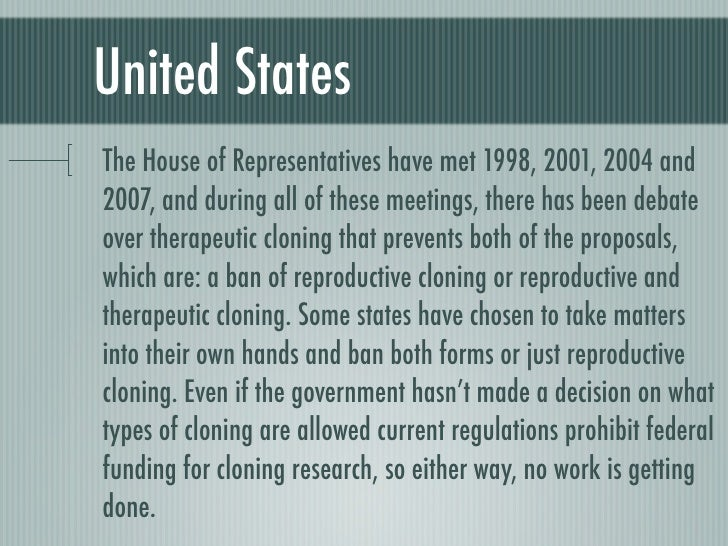 ethics of cloning Now that biologists in oregon have reported using cloning to produce a monkey embryo and extract stem cells, it looks more plausible than before that a.