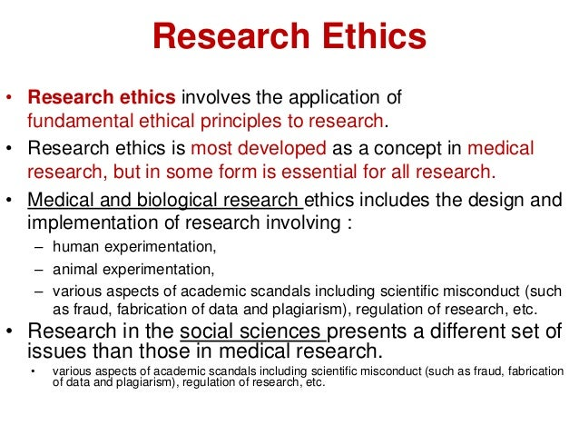 Dissertation research ethics