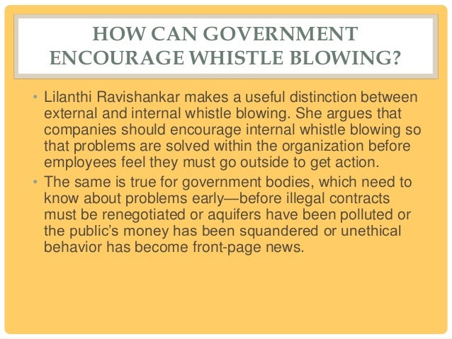 a definition of whistle blowing If, as a result of reporting or questioning misconduct like that described above, the whistleblower experiences (or is threatened with).