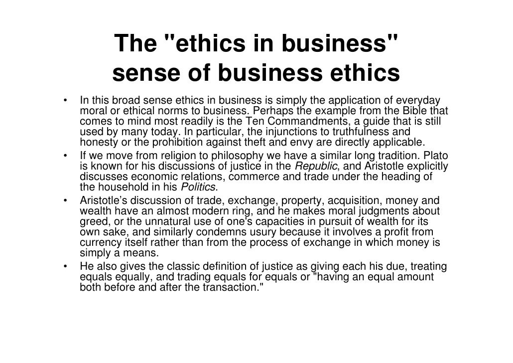 are ethics and business compatible Jump to navigation jump to search  part of a series on: philosophy.