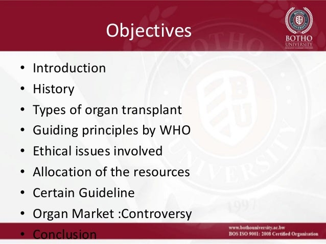 Ethical Aspects of Organ and Tissue Donation - Advice for Health Professionals and Consumers