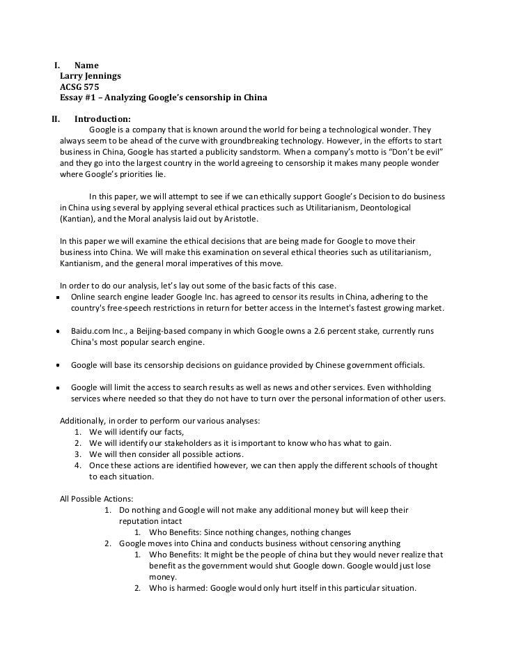 Unlawful conduct essay
