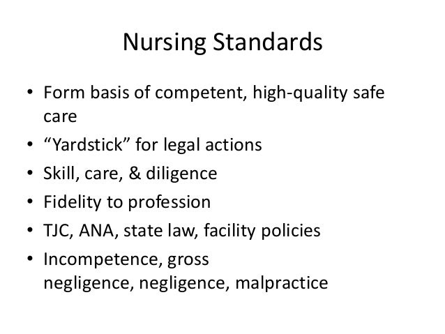 gross negligence and malpractice in nursing In extreme cases, the state board of nursing will revoke a nurse's license,   gross negligence: if you repeatedly deviate from the standard of practice set for.