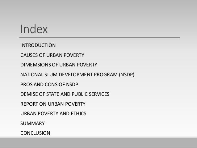 factors of urban poverty in malaysia