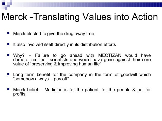 merck pharmaceuticals and river blindness ethical dilemma