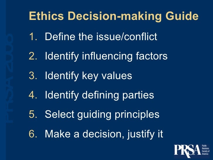 factors which influences individual ethics The influence of organizational culture over the ethical principles series of external factors each individual has a specific personality which is reflected in.