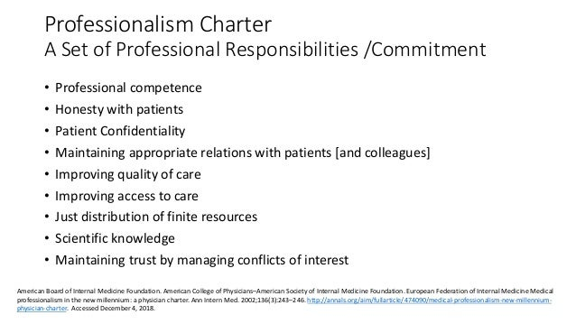 What Is Medical Professionalism What Is Professionalism In