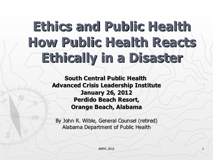South Central Public Health  Advanced Crisis Leadership Institute January 26, 2012 Perdido Beach Resort, Orange Beach, Ala...