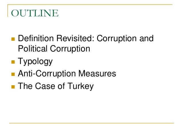 Defining and Measuring Corruption