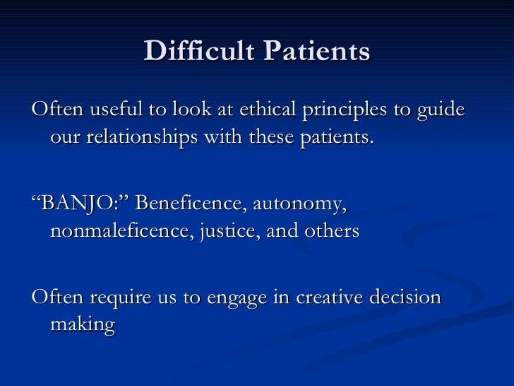 Dating patient ethics