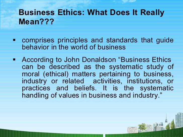thesis of business ethics Find essays and research papers on business ethics at studymodecom we've helped millions of students since 1999 join the world's largest study community.