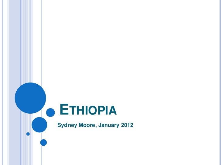 ETHIOPIASydney Moore, January 2012