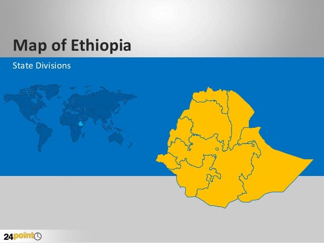 Map of Ethiopia State Divisions