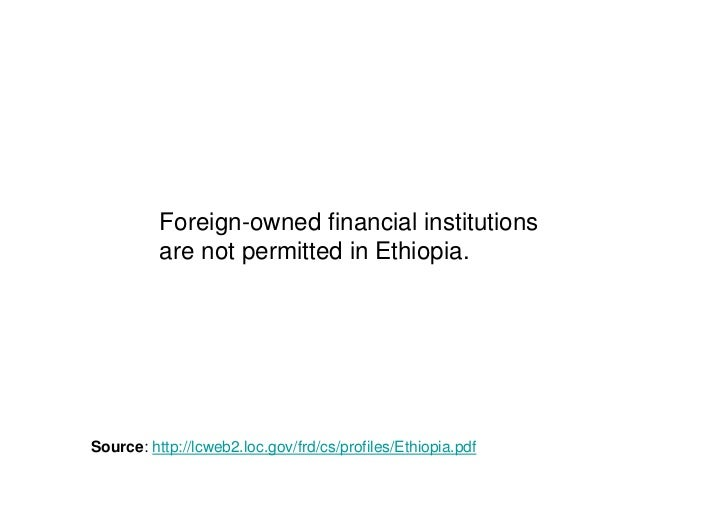 financial market in ethiopia pdf