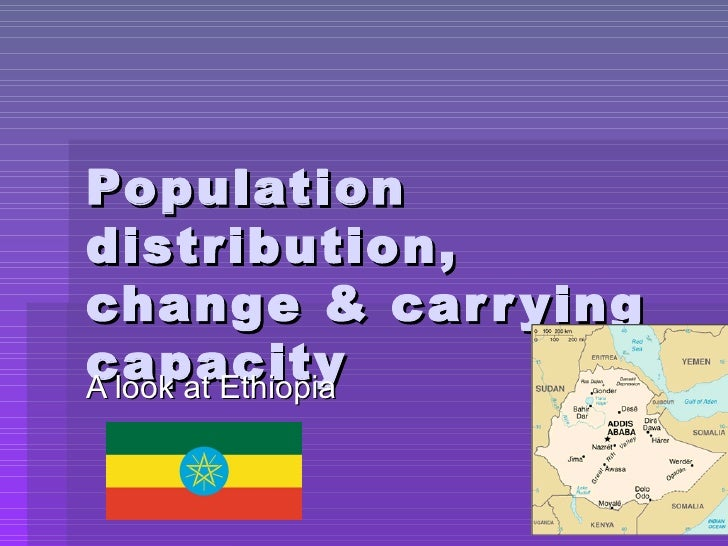 Population distribution, change & carrying capacity A look at Ethiopia