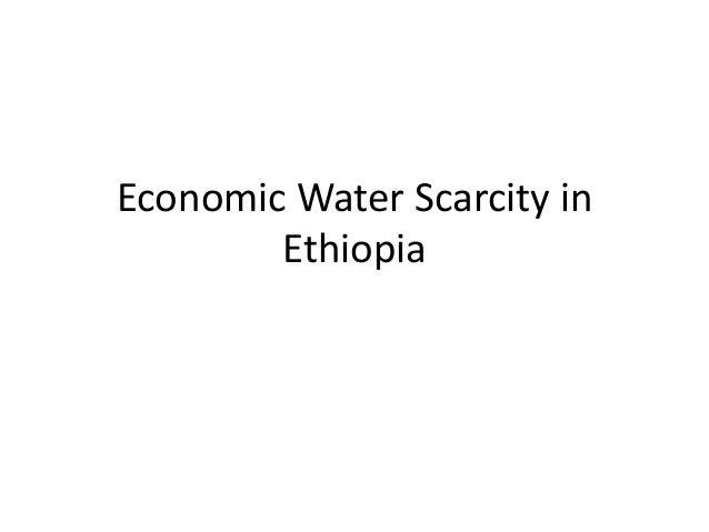 Economic Water Scarcity in Ethiopia
