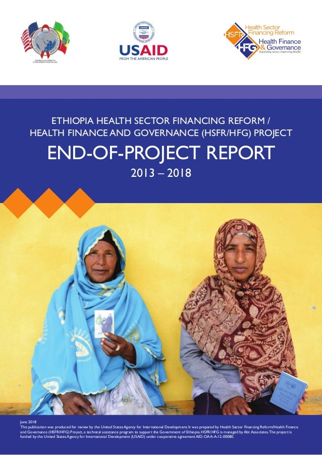Ethiopia Health Sector Financing Reform/HFG: End-of-Project