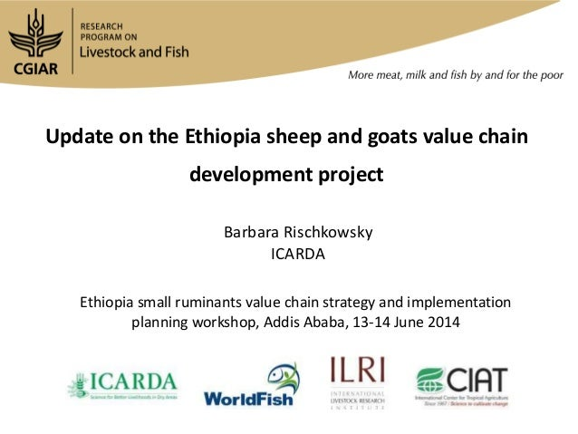 Update on the Ethiopia sheep and goats value chain development project Barbara Rischkowsky ICARDA Ethiopia small ruminants...