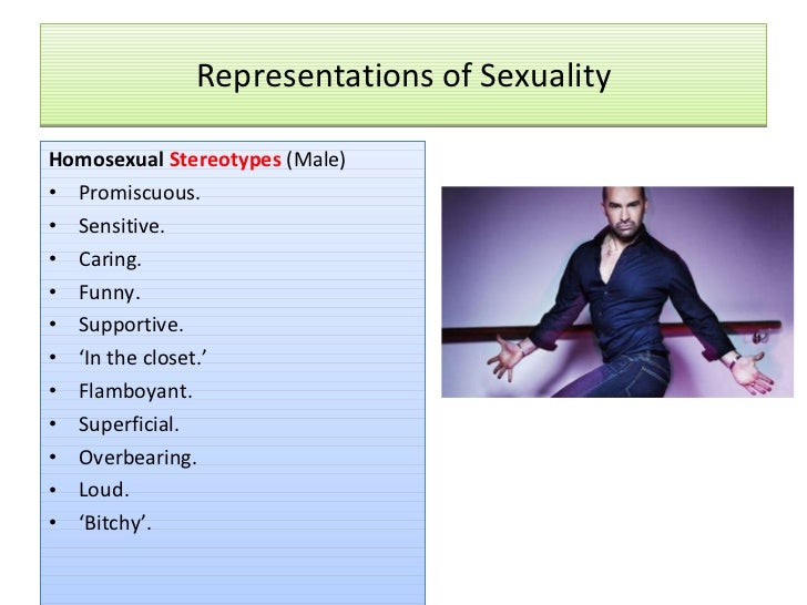 Stereotype of homosexuals