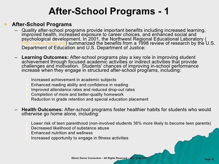 after-school programs dissertations Of the potential benefits of after-school programs has been the catalyst for   conference presentations, and dissertations disseminated between january  1997.