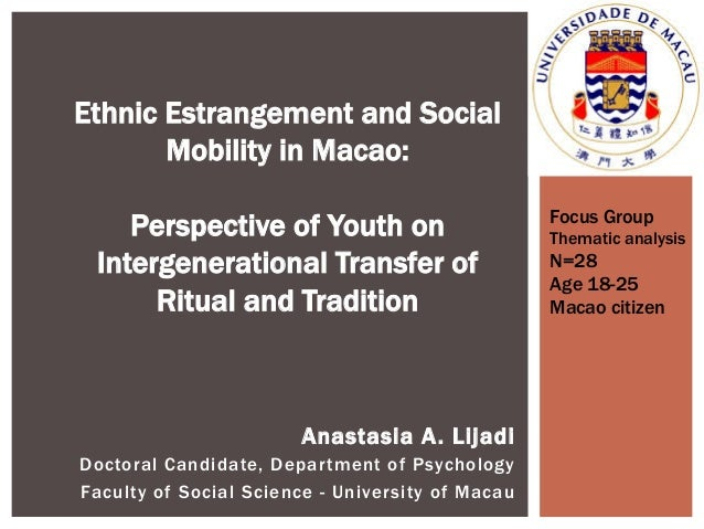 Ethnic Estrangement and Social Mobility in Macao: Perspective of Youth on Intergenerational Transfer of Ritual and Traditi...