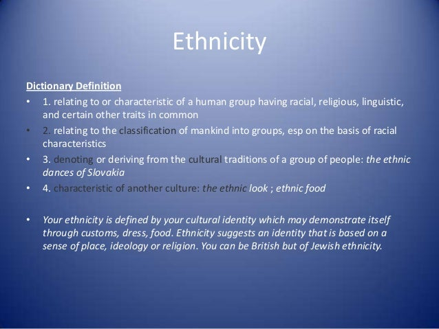 what does the word ethnic mean