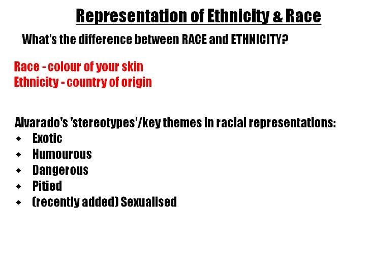 Ethnicity & race