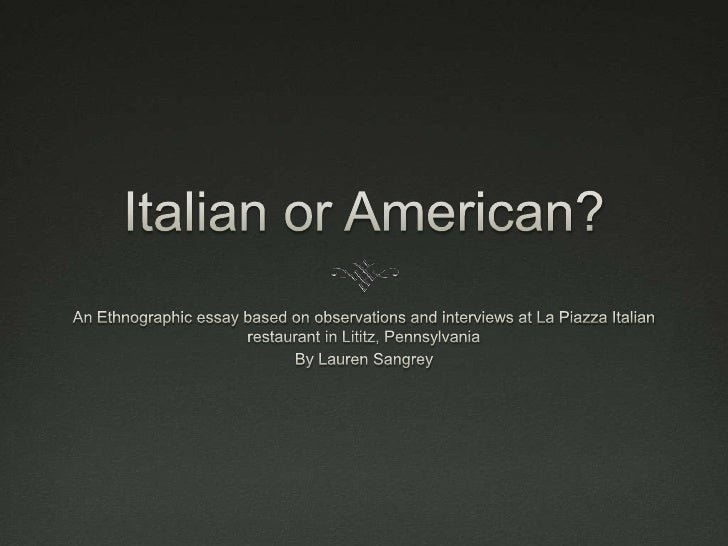 La Piazza An Italian restaurant owned by the Gambino Family    Mariana and Carlos, their two sons (Giuseppe and     Fran...