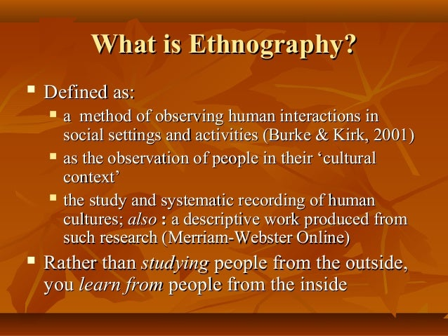 Is ethnography a methodology