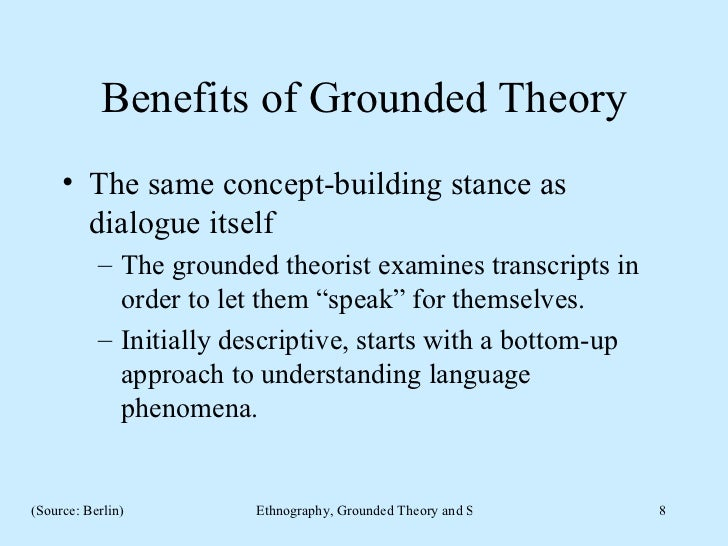 comparing systems theory and grounded theory The grounded theory approach, particularly the way strauss develops it, consists of a set of steps whose careful execution is thought to guarantee a good theory as the outcome strauss would say that the quality of a theory can be evaluated by the process by which a theory is constructed.