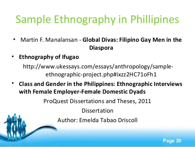 Start ethnographic research paper