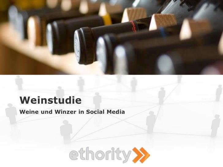 Weinstudie Weine und Winzer in Social Media