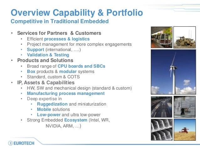 • Services for Partners & Customers • Efficient processes & logistics • Project management for more complex engagements • ...