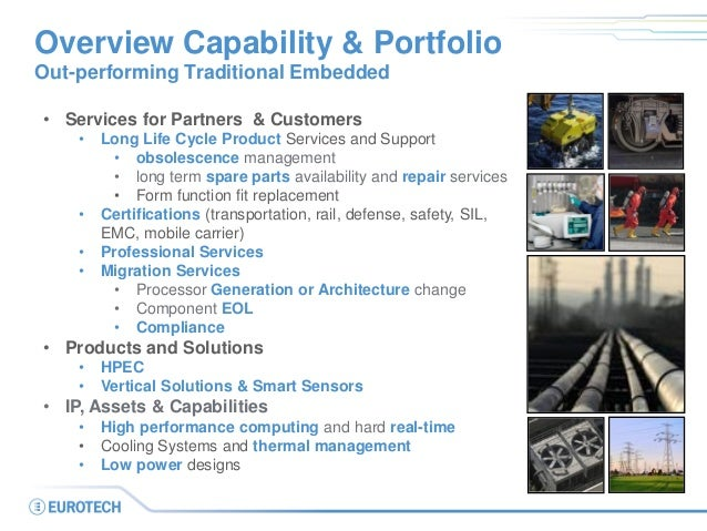 Overview Capability & Portfolio Out-performing Traditional Embedded • Services for Partners & Customers • Long Life Cycle ...