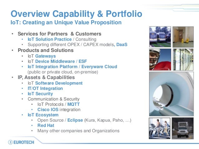 Overview Capability & Portfolio IoT: Creating an Unique Value Proposition • Services for Partners & Customers • IoT Soluti...