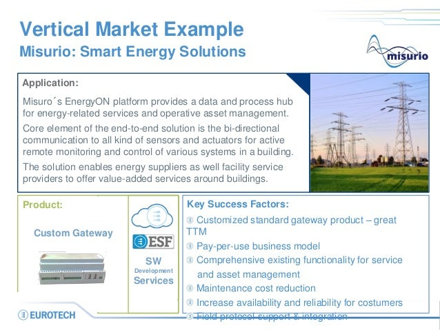 Portal OperatorCustomer Flexible Energy Appliance Field Service Vertical Market Example Misurio: Smart Energy Solutions Ap...