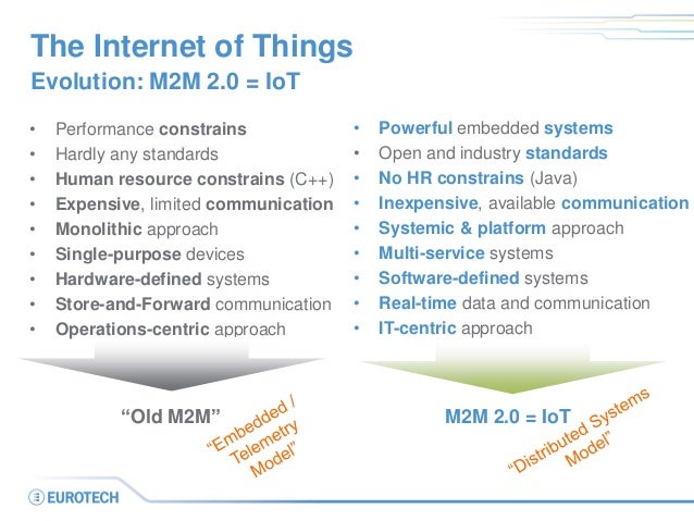 The Internet of Things • Performance constrains • Hardly any standards • Human resource constrains (C++) • Expensive, limi...
