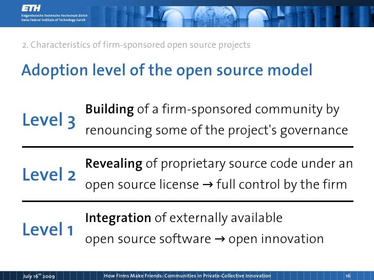open source software and the private-collective model of innovation essay A model of free software success last week i helped organize the open and user innovation conference at harvard business school  one of many interesting papers presented there was an essay on institutional change and information production by fabio landini from the university of siena.