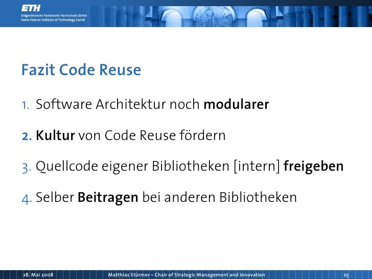 Code reuse motivation koordination kollaboration was for Software architektur