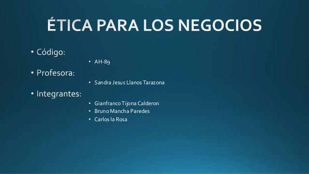 • AH-89 • Sandra Jesus LlanosTarazona • GianfrancoTijona Calderon • Bruno Mancha Paredes • Carlos la Rosa