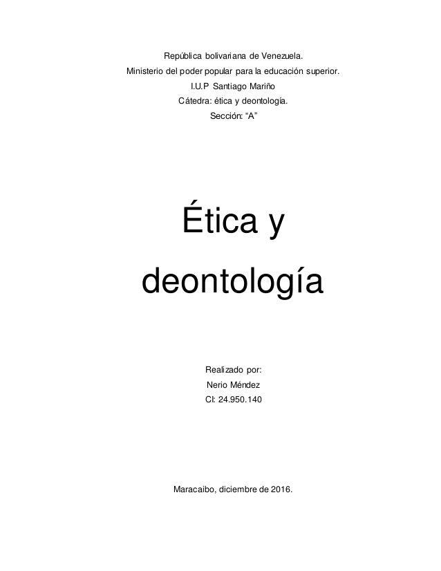 República bolivariana de Venezuela. Ministerio del poder popular para la educación superior. I.U.P Santiago Mariño Cátedra...