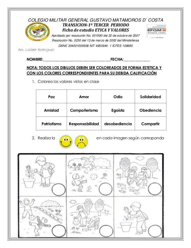 FICHA DE ESTUDIO ETICA 3ER PERIODO