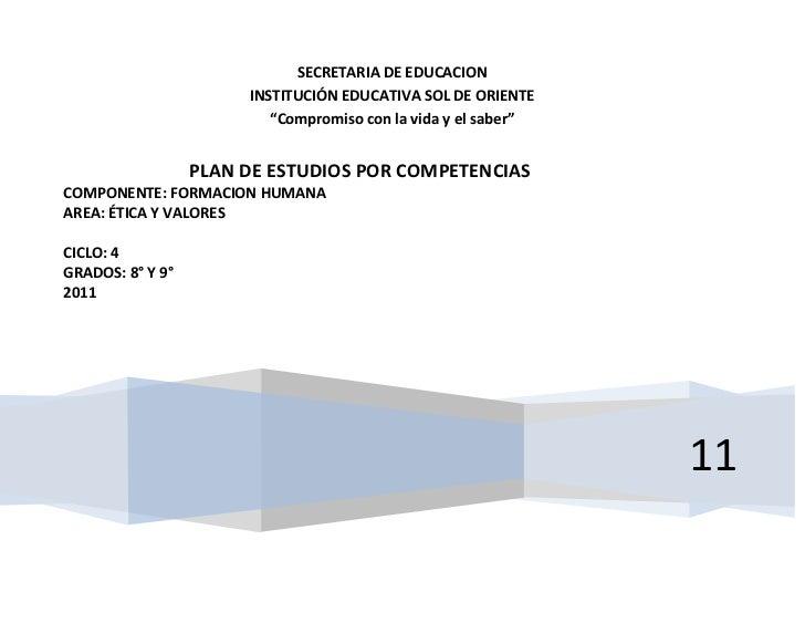 """SECRETARIA DE EDUCACION                       INSTITUCIÓN EDUCATIVA SOL DE ORIENTE                          """"Compromiso co..."""
