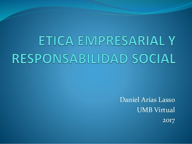 Daniel Arias Lasso UMB Virtual 2017