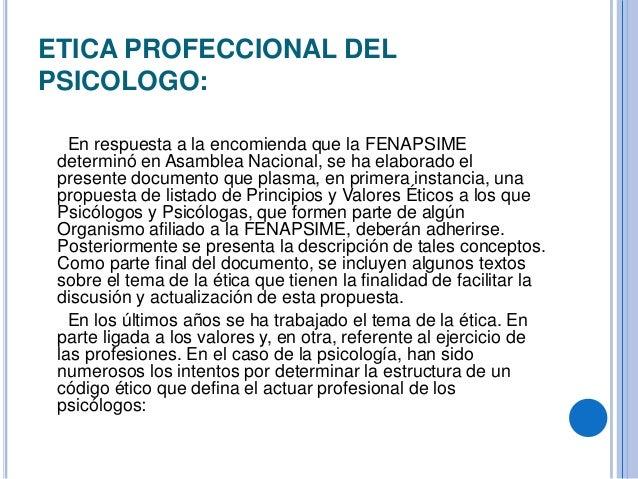 Etica profesional del psicologo for Nombre del sillon de los psicologos