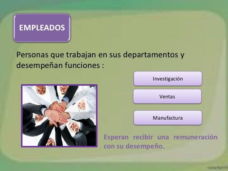 EMPLEADOSPersonas que trabajan en sus departamentos ydesempeñan funciones :                                   Investigació...