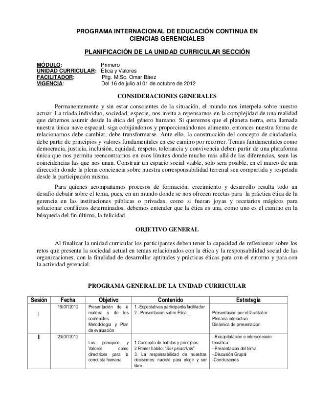 PROGRAMA INTERNACIONAL DE EDUCACIÓN CONTINUA EN                                 CIENCIAS GERENCIALES                      ...