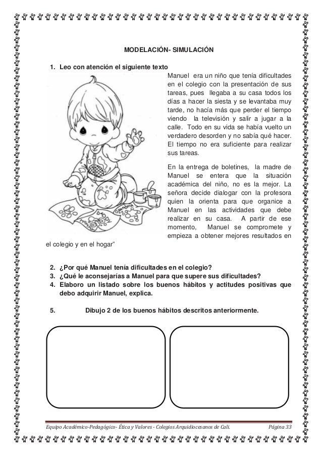 MODELACIÓN- SIMULACIÓN 1. Leo con atención el siguiente texto Manuel era un niño que tenía dificultades en el colegio con ...