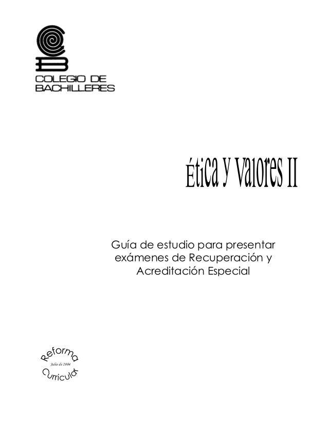Guía de estudio para presentar exámenes de Recuperación y Acreditación Especial Julio de 2004